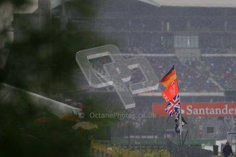 © 2012 Octane Photographic Ltd. German GP Hockenheim - Saturday 21st July 2012 - F1 Qualifying. McLaren supporters with Santander logo in background. Digital Ref : 0417lw1d3773