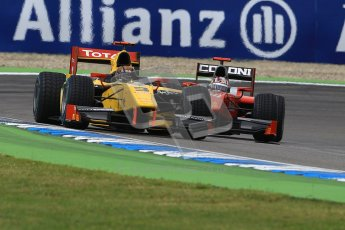 © 2012 Octane Photographic Ltd. German GP Hockenheim - Saturday 21st July 2012 - GP2 Race 1 - Dams - Davide Valsecchi and Scuderia Coloni - Stefano Coletti. Digital Ref : 0419lw1d4295