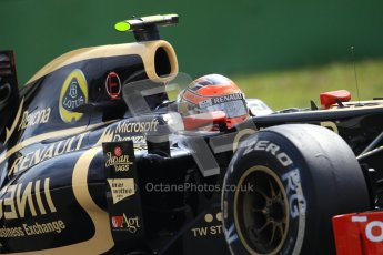 © 2012 Octane Photographic Ltd. German GP Hockenheim - Saturday 21st July 2012 - F1 Practice 3. Lotus E20 - Romain Grosjean. Digital Ref : 0416lw1d2567