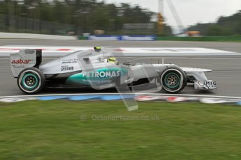 © 2012 Octane Photographic Ltd. German GP Hockenheim - Saturday 21st July 2012 - F1 Practice 3. Mercedes W03 - Nico Rosberg. Digital Ref : 0416lw7d7280