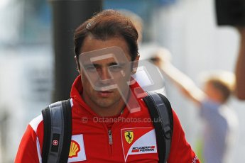 © 2012 Octane Photographic Ltd. German GP Hockenheim - Saturday 21st July 2012 - F1 pre-practice 3 paddock. Scuderia Ferrari - Felipe Massa. Digital Ref : 0420lw7d5929