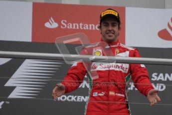 © 2012 Octane Photographic Ltd. German GP Hockenheim - Sunday 22nd July 2012 - F1 Podium -Fernando Alonso - Winner (Ferrari). Digital Ref : 0421lw7d9051
