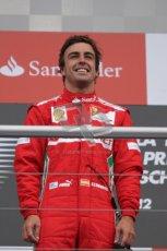 © 2012 Octane Photographic Ltd. German GP Hockenheim - Sunday 22nd July 2012 - F1 Podium - Fernando Alonso - Winner (Ferrari). Digital Ref : 0421lw7d9103
