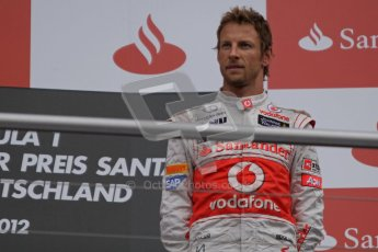 © 2012 Octane Photographic Ltd. German GP Hockenheim - Sunday 22nd July 2012 - F1 Podium - Jenson Button  (McLaren) 3rd (later reclassified 2nd after Vettel was penalised). Digital Ref : 0421lw7d9175