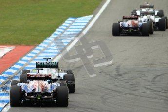 © 2012 Octane Photographic Ltd. German GP Hockenheim - Sunday 22nd July 2012 - F1 Race. Mercedes W03 - Nico Rosberg and Toro Rosso STR7 - Jean-Eric Vergne. Digital Ref : 0423lw1d5093