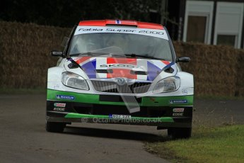 © 2012 Octane Photographic Ltd/ Carl Jones. Skoda Fabia IRC Rally Car, Goodwood Festival of Speed. Digital Ref: 0388cj7d6125