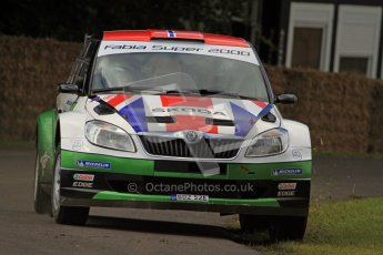 © 2012 Octane Photographic Ltd/ Carl Jones. Skoda Fabia IRC Rally Car, Goodwood Festival of Speed. Digital Ref: 0388cj7d6126