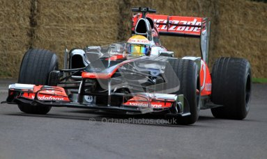 © 2012 Octane Photographic Ltd/ Carl Jones. Lewis Hamilton, McLaren MP4-26, Goodwood Festival of Speed. Digital Ref: 0388CJ7D6227