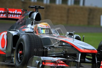 © 2012 Octane Photographic Ltd/ Carl Jones. Lewis Hamilton, McLaren MP4-26, Goodwood Festival of Speed. Digital Ref: 0388cj7d6237
