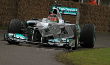 © 2012 Octane Photographic Ltd/ Carl Jones. Bendon Hartley, Mercedes W02, Goodwood Festival of Speed. Digital Ref: 0388CJ7D6554