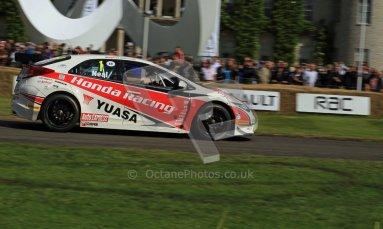 © 2012 Octane Photographic Ltd/ Carl Jones. Matt Neal, Honda Civic BTCC, Goodwood Festival of Speed. Digital Ref: 0389cj7d6985