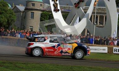 © 2012 Octane Photographic Ltd/ Carl Jones. Citroen DS3 WRC, Goodwood Festival of Speed. Digital Ref: 0389cj7d7074