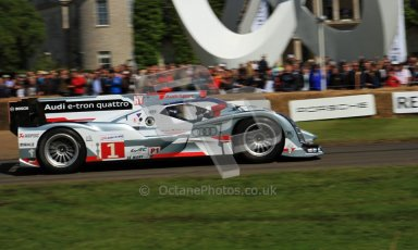 © 2012 Octane Photographic Ltd/ Carl Jones. Audi R18 e-tron Quattro, Goodwood Festival of Speed. Digital Ref: 0389cj7d7186