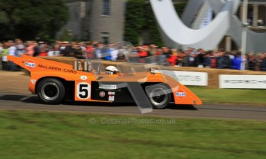 © 2012 Octane Photographic Ltd/ Carl Jones. Goodwood Festival of Speed. McLaren M8E. Digital Ref: 0389cj7d7227