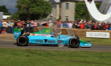 © 2012 Octane Photographic Ltd/ Carl Jones. Leyton House Judd, Goodwood Festival of Speed, Historic F1. Digital Ref: