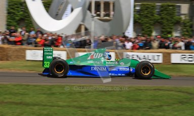 © 2012 Octane Photographic Ltd/ Carl Jones. Jordan 191, Goodwood Festival of Speed, Jordan 191, Historic F1. Digital Ref: