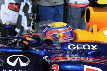 © 2012 Octane Photographic Ltd/ Carl Jones.  Mark Webber, Red Bull Racing RB6, Goodwood Festival of Speed. Digital Ref: 0389cj7d7844
