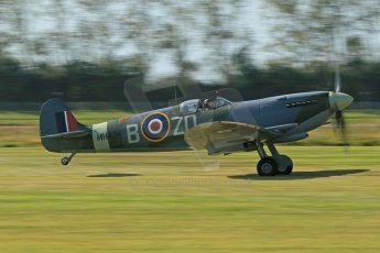 World © 2012 Octane Photographic Ltd. Goodwood Revival. September 15th 2012. Spitfire take off. Digital Ref : 0521cb1d9528