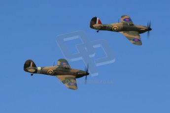 World © 2012 Octane Photographic Ltd. Goodwood Revival. September 15th 2012. Hurricane formation. Digital Ref : 0521cb1d9621