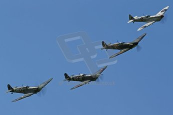 World © 2012 Octane Photographic Ltd. Goodwood Revival. September 15th 2012. Spitfire formation. Digital Ref : 0521cb1d9720