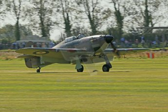 © 2012 Octane Photographic Ltd. Goodwood Revival. September 15th 2012. Hurricane landing. Digital Ref : 0521cb1d9935
