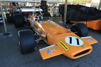 World © 2012 Octane Photographic Ltd. Goodwood Revival. September 15th 2012. Dan Gurney McLaren M7 Historic F1. Digital Ref : 0520cb1d9340