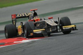 © Octane Photographic Ltd. GP2 Autumn Test – Circuit de Catalunya – Barcelona. Tuesday 30th October 2012 Afternoon session - Lotus GP - Daniel Abt. Digital Ref : 0552cb1d7090