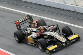 © Octane Photographic Ltd. GP2 Autumn Test – Circuit de Catalunya – Barcelona. Tuesday 30th October 2012 Morning session - Lotus GP - Daniel Abt. Digital Ref : 0551cb1d5800