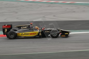 © Octane Photographic Ltd. GP2 Autumn Test – Circuit de Catalunya – Barcelona. Tuesday 30th October 2012 Morning session - Lotus GP - Daniel Abt. Digital Ref : 0551lw7d0114