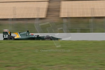© Octane Photographic Ltd. GP2 Autumn Test – Circuit de Catalunya – Barcelona.  Tuesday 30th October 2012 Morning session - Caterham Racing - Alexander Rossi. Digital Ref : 0551lw7d0162