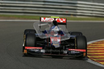 World © Octanephotos.co.uk All rights reserved. Joylon Palmer takes on Spa-Francorchamps during GP2 Feature Race 1 2012