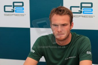 © 2012 Octane Photographic Ltd. Italian GP Monza - Friday 7th September 2012 - GP2 Qualifying Press Conference - Caterham Racing - Giedo van der Garde (2nd). Digital Ref : 0509cb1d0558