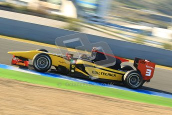 © Octane Photographic Ltd. GP2 Winter testing Jerez Day 1, Tuesday 28th February 2012. DAMS, Davide Valsecchi. Digital Ref :