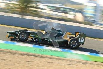 © Octane Photographic Ltd. GP2 Winter testing Jerez Day 1, Tuesday 28th February 2012. Caterham Racing, Giedo Van der Garde. Digital Ref :