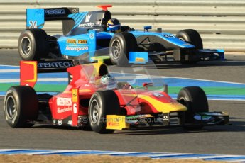 © Octane Photographic Ltd. GP2 Winter testing Jerez Day 1, Tuesday 28th February 2012. Racing Engineering, Nathanael Berthon and Scuderia Coloni, Stefano Coletti. Digital Ref :