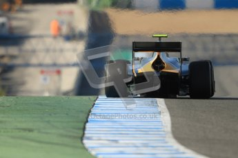 © Octane Photographic Ltd. GP2 Winter testing Jerez Day 1, Tuesday 28th February 2012. Caterham Racing, Giedo Van der Garde. Digital Ref :