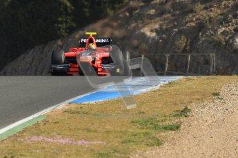 © Octane Photographic Ltd. GP2 Winter testing Jerez Day 1, Tuesday 28th February 2012. Marussia Carlin, Rio Haryanto. Digital Ref :