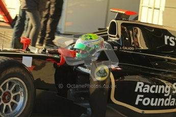 © Octane Photographic Ltd. GP2 Winter testing Jerez Day 1, Tuesday 28th February 2012. Lotus GP, James Calado. Digital Ref :