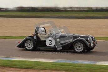 © Octane Photographic Ltd. HSCC Donington Park 17th March 2012. 70's Road Sports Championship. Paul Conway - Morgan Plus 8. Digital ref : 0239lw7d4094