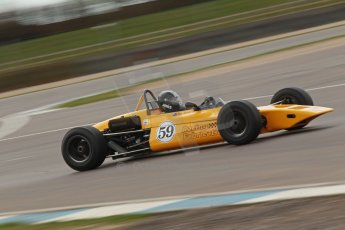 © Octane Photographic Ltd. HSCC Donington Park 17th March 2012. Classic Racing Cars. Ian Jones - Lotus 59. Digital ref : 0244cb1d7791
