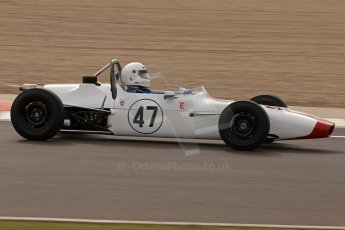 © Octane Photographic Ltd. HSCC Donington Park 17th March 2012. Classic Racing Cars. John Moulds - Crossle 20F. Digital ref : 0244lw7d7518