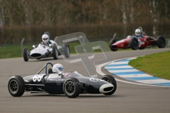 © Octane Photographic Ltd. HSCC Donington Park 17th March 2012. Historic Formula Junior Championship (Rear engine).. Andrew Turvey - Lola Mk5A. Digital ref : 0243cb1d7373