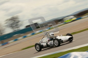 © Octane Photographic Ltd. HSCC Donington Park 17th March 2012. Historic Formula Junior Championship (Rear engine).. Chris Wilks - Deep Sanderson DS104. Digital ref : 0243cb1d7469