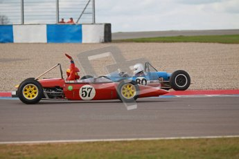 © Octane Photographic Ltd. HSCC Donington Park 17th March 2012. Historic Formula Junior Championship (Rear engine).. John Sykes - Merlyn Mk5/7. Digital ref : 0243cb1d7663
