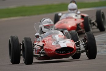 © Octane Photographic Ltd. HSCC Donington Park 17th March 2012. Historic Formula Junior Championship (Rear engine).. Steven Smith - Cooper T59. Digital ref : 0243cb7d4537