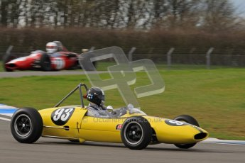 © Octane Photographic Ltd. HSCC Donington Park 17th March 2012. Historic Formula Junior Championship (Rear engine).. Rudolf Ernst - Lotus 22. Digital ref : 0243lw7d6422