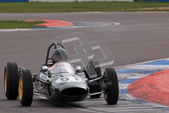 © Octane Photographic Ltd. HSCC Donington Park 17th March 2012. Historic Formula Junior Championship (Rear engine).. Michael Hibberd - Lotus 22. Digital ref : 0243lw7d6524