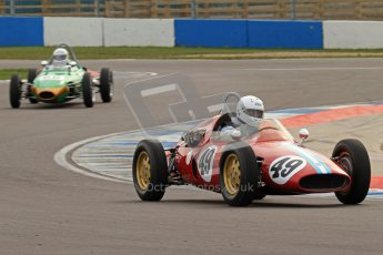 © Octane Photographic Ltd. HSCC Donington Park 17th March 2012. Historic Formula Junior Championship (Rear engine).. Mike Gregory - De Tomaso ISIS. Digital ref : 0243lw7d6594