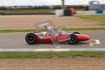 © Octane Photographic Ltd. HSCC Donington Park 17th March 2012. Historic Formula Junior Championship (Rear engine).. Lance Whitehead - Lotus 20. Digital ref : 0243lw7d6932