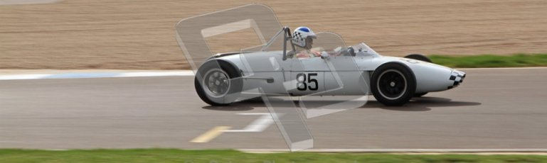 © Octane Photographic Ltd. HSCC Donington Park 17th March 2012. Historic Formula Junior Championship (Rear engine).. John Chisholm - Gemini Mk 3A. Digital ref : 0243lw7d6995